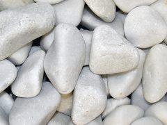galet blanc pur marbre