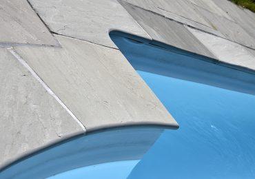 grès gris margelle piscine
